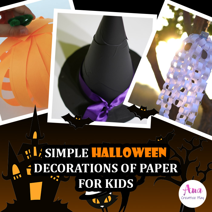 Simple Halloween Decorations of Paper for Kids
